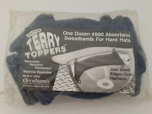 12 Pack Terry Toppers 880 Hard Hat Sweatbands