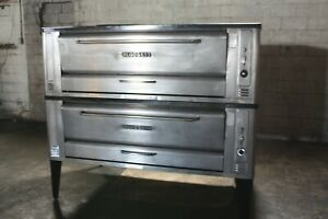 Blodgett 1060 Double Stone Deck Pizza Oven Used Verified Operational