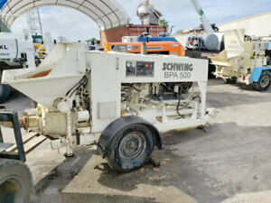 Concrete Pump For Sale 2007 Schwing Bpa 500