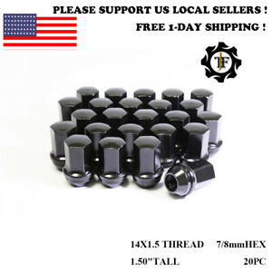 20pc 14x1 5 Fit Dodge Ram Oem Factory Black 7 8 Hex Wheel Lug Nut Conical Seat