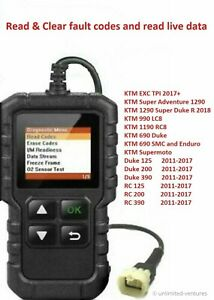 Fault Code Scanner Diagnostic Obd2 Tool For Ktm Duke 690 990 1190 1290 125 390
