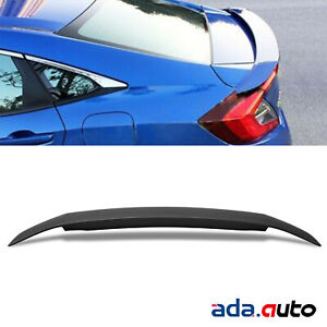 For 2016 2018 Honda Civic Light Rs Abs Plastic Rear Trunk Boot Wing Spoiler