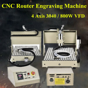 4 axis 3040t Cnc Machine Router Engraving Pcb Wood Metal Carving 3d Diy Milling