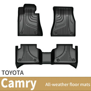 For 2018 2020 Toyota Camry 3d Tpe Floor Mats Liners All Weather Protection Black