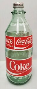 Vintage Rare Coca Cola Coke 2 Liter Size Glass Bottle Collectible NICE COLOR
