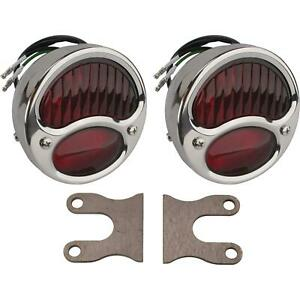 1928 1931 Ford Model A Stainless Tail Lights With Brackets