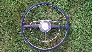 1949 1950 Ford Deluxe Original Steering Wheel W Horn Ring Hot Rod Rat