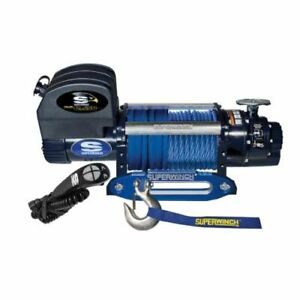 Superwinch 1612201 Winch Electric 12v 12500lb Hawse Fairlead 80ft Synthetic Line