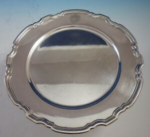 Hampton By Tiffany Co Sterling Silver Charger Plate 20843 10 3 4 2869