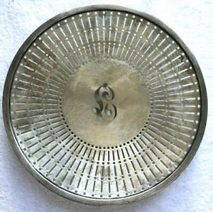 Sterling Silver Pierced Reticulated 10 Plate Charger Monogrammed
