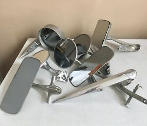 Vtg Lot Of Old Car Rearview Side View Mirrors Ford Chevy Mopar Hood Ornament