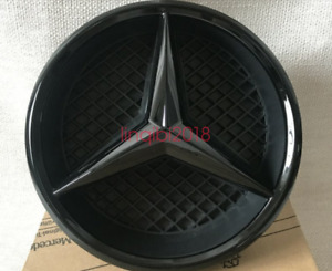 Front Grille Black Star Emblem Badge Base For 2014 2018 Benz W205 C Class