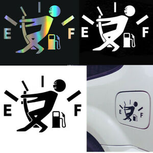 1pc Funny Car Vinyl Sticker High Gas Consumption Decal Fuel Gage Empty