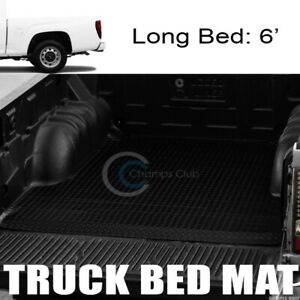 Fit 04 12 Colorado canyon 6 Blk Rubber Diamond Truck Bed Trunk Mat Carpet Liner