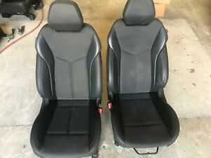 12 13 14 15 16 Veloster Gray Cloth Black Leather Front Bucket Seats Hot Rod