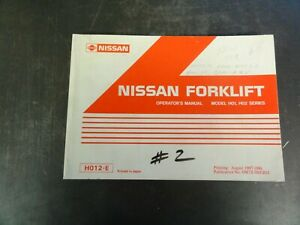 Nissan H01 H02 Series Forklift Operators Manual H012 e