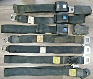 1971 Gm Camaro Chevelle Nova Seat Belt Set Model 6910 Dated 71 Shoulder Belts