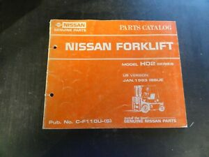 Nissan Model H02 Forklift Parts Catalog Manual C f110u s