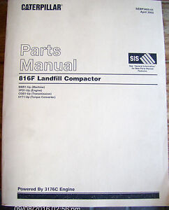 Cat Caterpillar 816f Landfill Compactor Parts Manual Sebp3405 01 Apr 2002 685