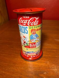 Coca Cola 1970s Trink Tin Bank Made in Western Germany