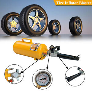 Portable Air Tire Bead Seater Tool For Motorcycle Atv 0 6 0 8mpa 8l Tank Yellow