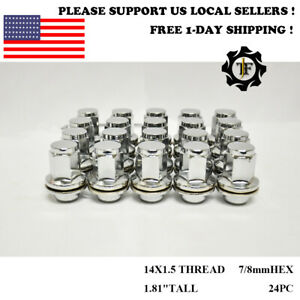 24pc 14x1 5 For Infiniti Qx56 2011 2013 1 86 Tall Factory Oem Chrome Lug Nut