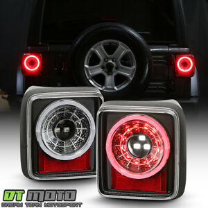 2018 2020 Jeep Wrangler Jl halogen Type Black Sequential Led Tail Lights Lamps
