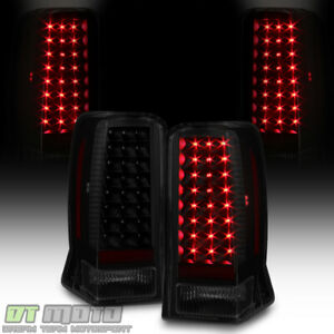 Black Smoke 2002 2003 2004 2005 2006 Cadillac Escalade Esv Led Tail Lights Lamps