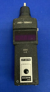 Shimpo Dt 207b Hand Digital Tachometer With Case