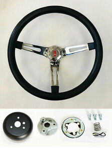 1969 1993 Oldsmobile Cutlass 442 98 Black Foam On Chrome Steering Wheel 15