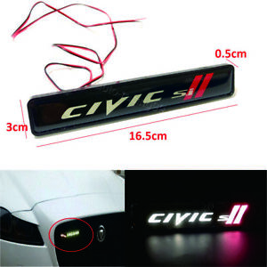 Car Accessories Led Emblem Grill Badge For Honda Si Front Grilles Auto Sticker