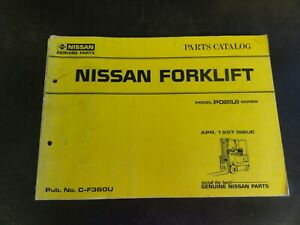 Nissan P02 u Forklift Parts Catalog Manual C f360u 1997