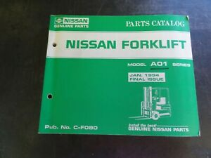 Nissan A01 Series Forklift Parts Catalog Manual C f080