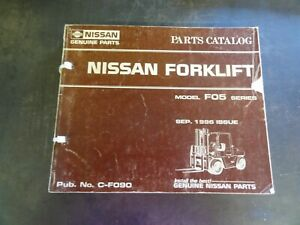 Nissan F05 Series Forklift Parts Catalog Manual C f090