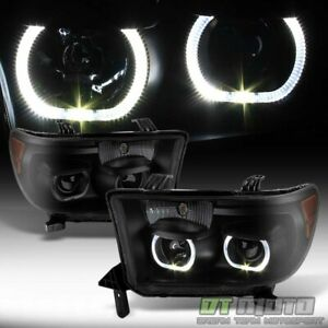 For Black Smoked 2007 2013 Toyota Tundra 08 17 Sequoia Led Projector Headlights