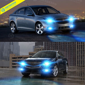 For Chevy Cruze 2011 2013 2014 2015 4x Ice Blue Led Headlight Fog Lights Bulbs
