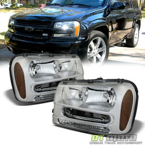 Fits 2002 2009 Chevy Trailblazer Ext Replacement Headlights Headlamps Left right