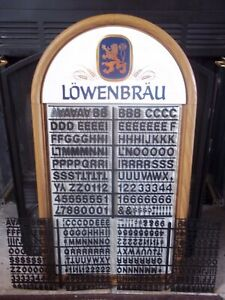 Nos Lowenbrau Beer Menu message Board Sign W 3 Set s Letters numbers Symbols
