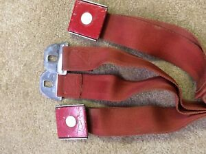 1964 1966e Corvette Chevrolet Gm Seat Belts Used Red 64 65 66