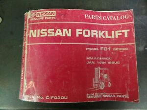 Nissan F01 Series Forklift Parts Catalog Manual C f030u