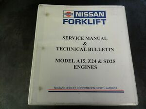 Nissan A15 Z24 Sd25 Engines Service Manual Technical Bulletin Manual