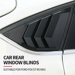 For 2012 2019 Ford Focus St Rs Hatchback Abs Rear Window Side Louvers Vents