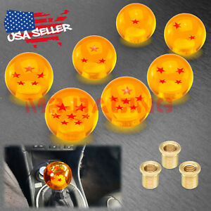 Orange Dragon Ball Shift Knob Shifter With Adapter Universal Manual Transmission