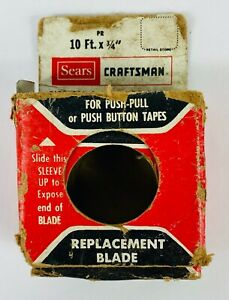 Vintage Sears Craftsman Replacement Tap Measure 10ft x 3 4