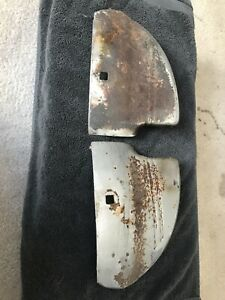 1941 Chevy Front Fender Guards Wrap Arounds Original Chevrolet Accessory Pair