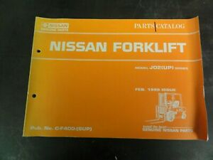 Nissan J02 up Series Forklift Parts Catalog Manual C f400 sup