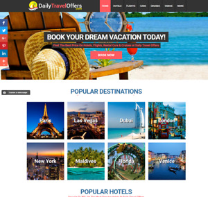 Established Profitable Fully Automated Travel Website Business For Sale