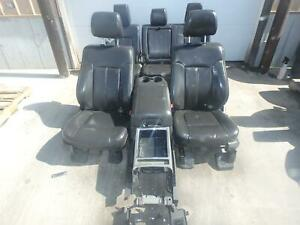 2011 2016 F250 F350 Superduty Black Lariat Leather Seats Front Rear With Console