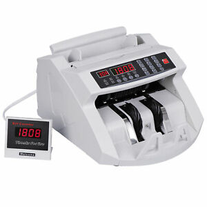 Money Bill Counter Machine Cash Counting Counterfeit Detector Currency Checker