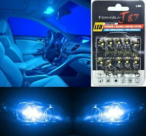 Canbus Error Led Light 194 Blue 10000k Ten Bulbs License Plate Replacement Fit